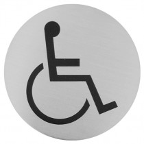 Urban Steel Disabled Bathroom Sign