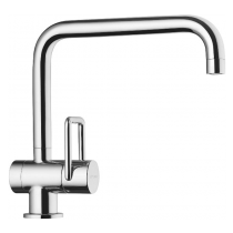Twin Single Lever Mixer with Swivel Spout Chrome