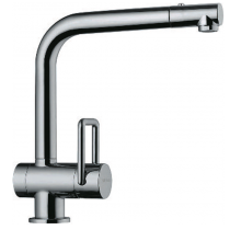 Twin Single Lever Mixer with Pull Out Rinse with Dual Flow