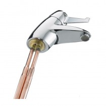 Solo Mono Basin Mixer with Short Lever (no waste) Copper Tails