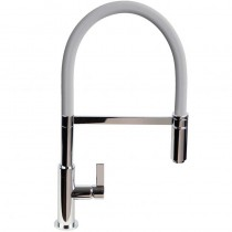 Spirale Sink Mixer Brushed Steel - Light Grey Flexible Spout