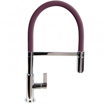 Spirale Sink Mixer Brushed Steel - Wine Flexible Spout