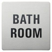 Urban Steel Bathroom Square Bathroom Sign