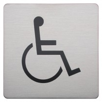 Urban Steel Disabled Square Bathroom Sign