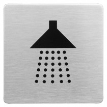 Urban Steel Shower Square Bathroom Sign