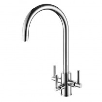 Stella Mixer and Cold Filter With Swivel Spout Brushed Nickel