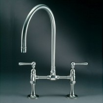 Steamvalve Bridge Mixer Tap Polished Stainless Steel