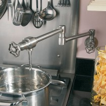 Steamvalve Wall Mounted Pot Filler Matt Stainless Steel
