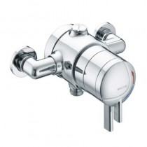 STRATUS Thermostatic Dual Control Exposed Shower Valve with Chrome Levers