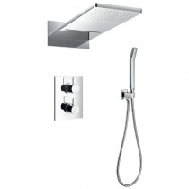 STR8 Thermostatic Shower with Dual Outlet Head and Handset
