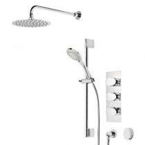 Stream Triple Function Shower System with Smartflow Bath Filler