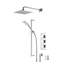 Sync Triple Function Shower System with Smartflow Bath Filler