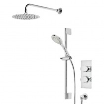 Stream Dual Function Shower System with Fixed Head and Riser Rail