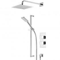 Hydra Dual Function Shower System with Fixed Head and Riser Rail