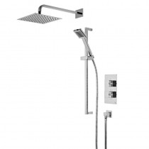 Event Square Dual Function Shower System with Stainless Steel Fixed Shower Head