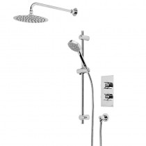 Event Round Dual Function Shower System with Stainless Steel Fixed Shower Head
