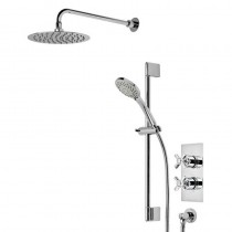 Wessex Dual Function Shower System with Fixed Head and Riser Rail