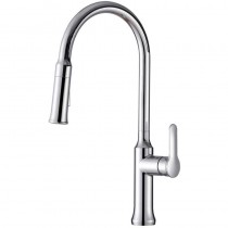 Tania Single Lever Pull Out Spray Sink Mixer Brushed Nickel