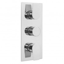 Ashdown Concealed 3 Way Thermostatic Shower Valve Chrome