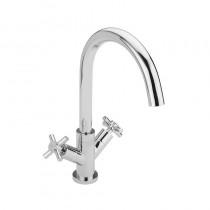 Crosshead Handle Monobloc Kitchen Sink Mixer Chrome