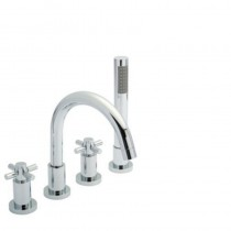 Tec Crosshead 4 Hole Bath Shower Mixer