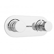 Bristan Tria Thermostatic Recessed Dual Control Valve with Integral Diverter
