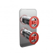 Crosswater Union Single Outlet Thermostatic Shower Valve Red Wheel Controls