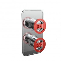 Crosswater Union Thermostatic Shower Valve with 2 Way Diverter Red Wheel Control