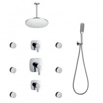Urban Manual Shower Mixer Set with Handset, Body Jets and Ceiling Head