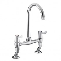 Value Lever Bridge Sink Mixer 6 Inch Levers