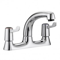 Value Lever Deck Sink Mixer 6 Inch Levers