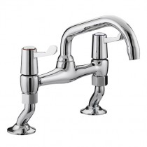 Value Lever Pillar Bridge Sink Mixer