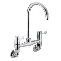 Value Lever Wall Bridge Sink Mixer 6 Inch Levers