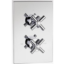 X2 Dual Control Thermostatic Shower Valve Built in Diverter 2 Outlets