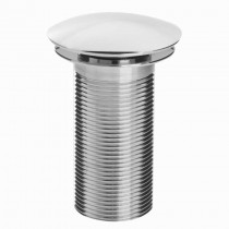 Round Clicker Basin Waste Unslotted Chrome