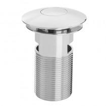 Bristan Round Push Button Basin Waste Slotted Chrome