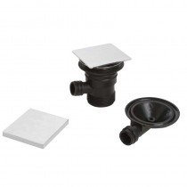 Bristan Square Clicker Bath Waste with Overflow