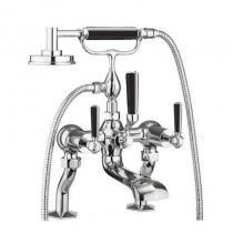 Crosswater Waldorf Black Lever Bath Shower Mixer