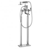 Crosswater Waldorf Black Lever Floor Standing Bath Shower Mixer