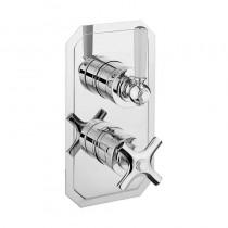 Waldorf White Lever Thermostatic Shower Valve Slimline