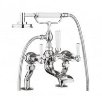 Waldorf White Lever Bath Shower Mixer