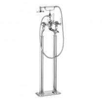 Waldorf White Lever Floor Standing Bath Shower Mixer