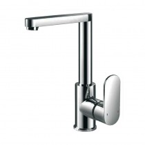WD4 Side Lever Basin Mixer with Push Button Waste