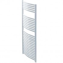 Design Curved 500 x 800 WhiteTowel Rail