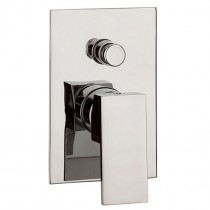 Water Square Recessed Manual Shower Valve with Diverter