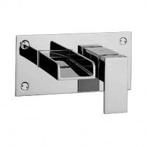 Water Square Wall 2 Hole Basin Mixer