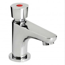 Single Self Closing Soft Touch Pillar Basin Tap