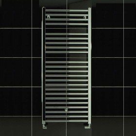 TS 600 x 1150 Towel Rail Flat Chrome Pack