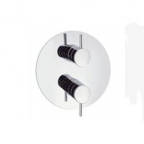 Kai Lever Thermo Shower Valve Round plate