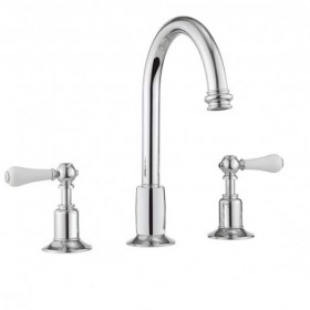 Belgravia Lever High Neck 3 Hole Basin Mixer